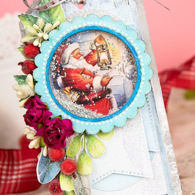 Christmas tag with shakerbox #shaker #cardmaking #handmadecards #scrapbooking #karolinaczołba