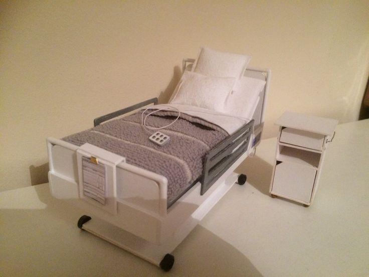 dollshouse handmade hospital bed