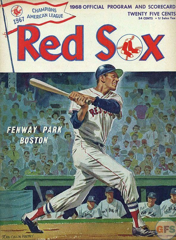 1968 Red Sox Program Cover Art By John Cullen Murphy