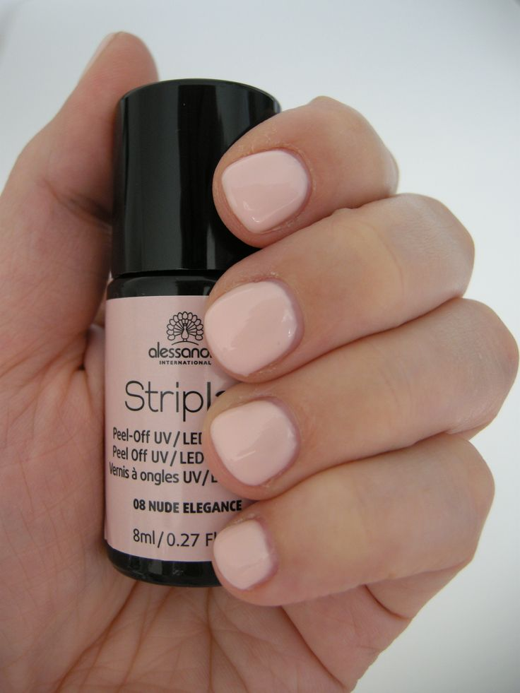 Striplac 08 Nude Elegance (1 day in), just a light rose, no nude in sight #alessandro #striplac