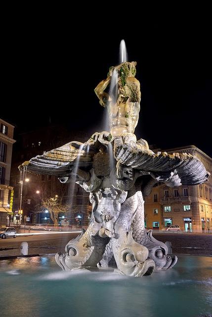 The Triton Fountain (Fontana del Tritone) Rome, by Gian Lorenzo Bernin