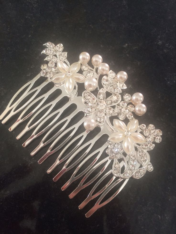 Bridesmaids hairslides I Bought from eBay to Match my job Richards tiara
