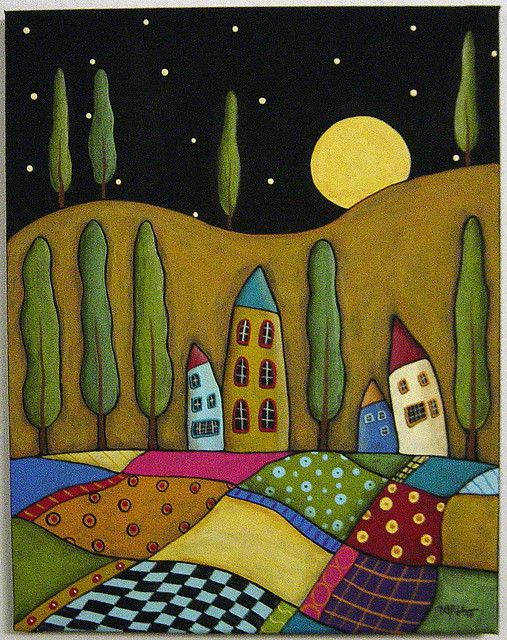 folk art quilt. Let's try this?