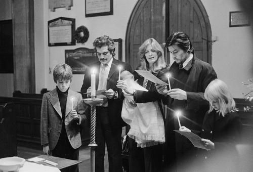 "Omar Sharif Vanessa Redgrave and Alain Delon by Terry O'Neill  Film actors (left to right) Omar Sharif, Vanessa Redgrave and Alain Delon in church with children, circa 1975.  Limited Edition Silver Gelatin Signed and Numbered  12"" x 16"" / 16"" x 20""  20"" x 24"" / 20"" x 30""  24"" x 34"" / 30"" x 40""  40"" x 60"" / 48"" x 72""  For questions or prices please contact us at info@igifa.com  IGI FINE ART"