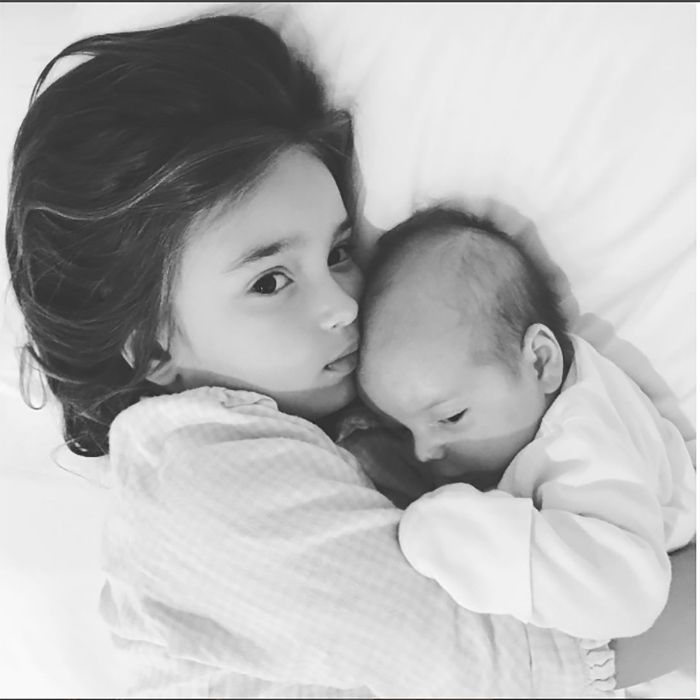 Sunday snuggles! Arabella got in some quality time with her youngest brother Theo.