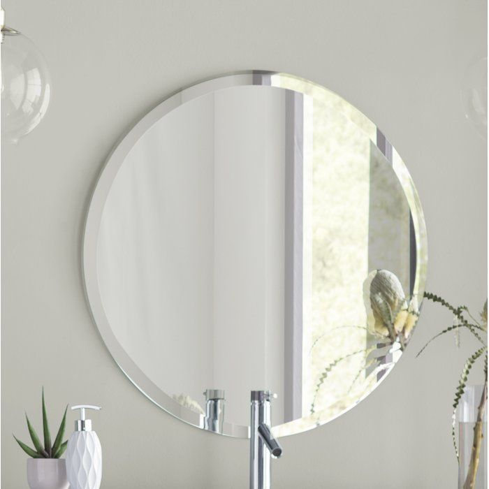 Valdosta Modern And Contemporary Beveled Frameless Bathroom