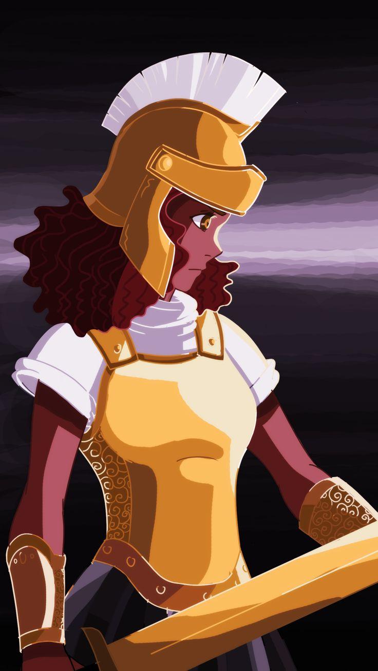 Hazel Lavesque ready for battle! 2nd from the bunch! planning to do more! :) so far: Piper Hazel Annabeth Reyna Rachel Thalia