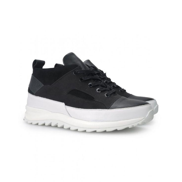 Public School Hiker Sneaker Mid Lthr Blk