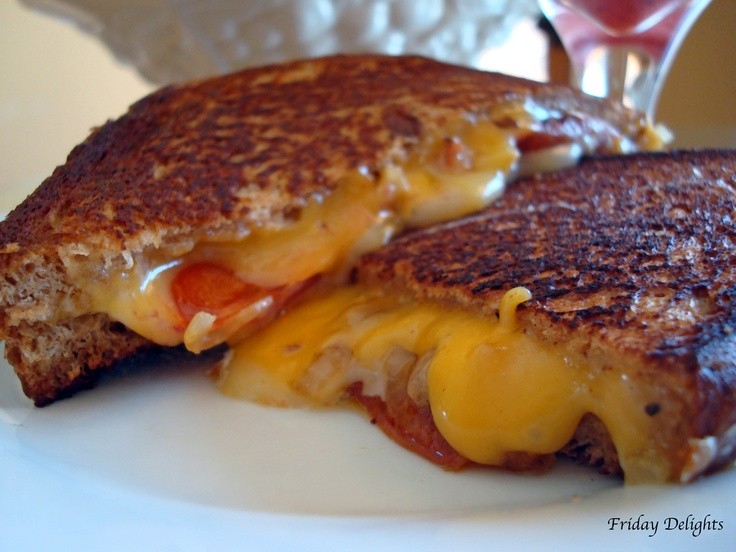 Sweet & Spicy Grilled Cheese Toast