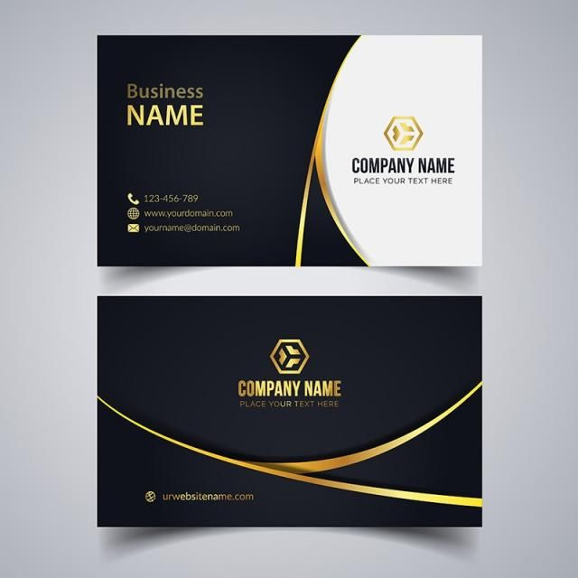 Corporate Business Card Eps Template Business Cards Vector