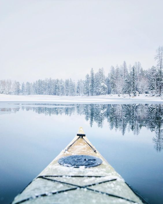 Winter kayaking.                                                                                                                                                                                 More