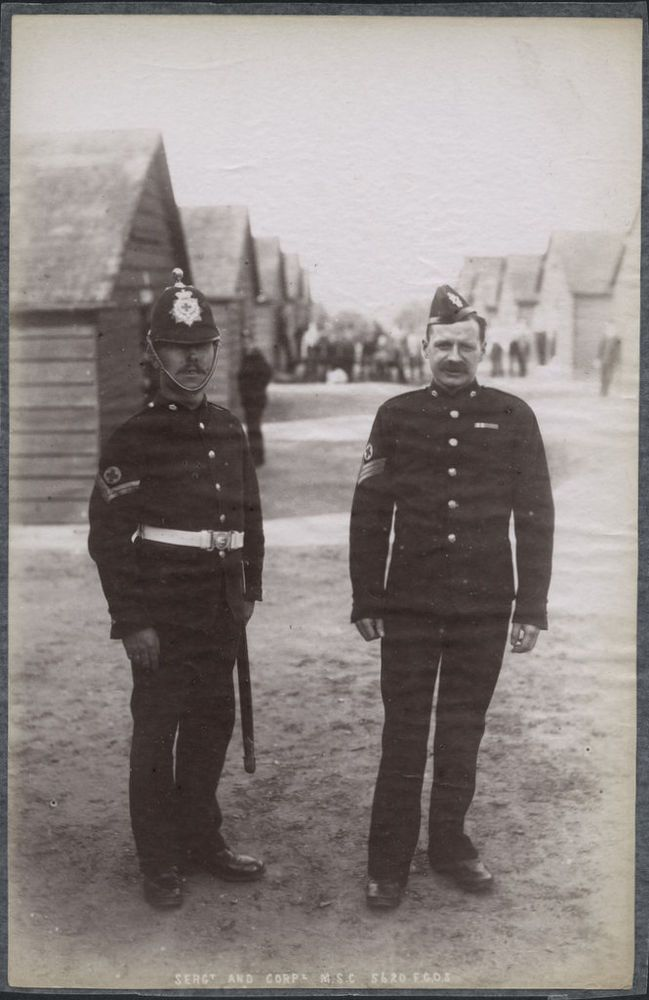 c.1890 s PHOTO  - BRITISH ARMY REGIMENT SGT AND CORPORAL MEDICAL SERVICE CORPS