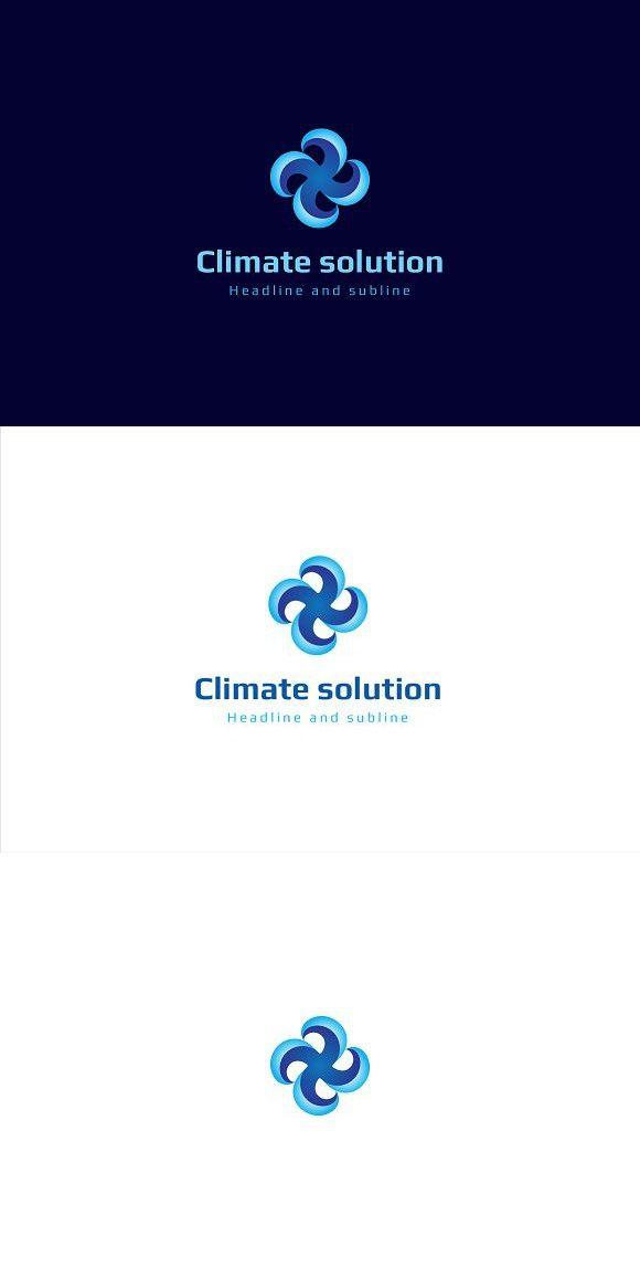 Climate Solution Logo Logomarca Logotipo
