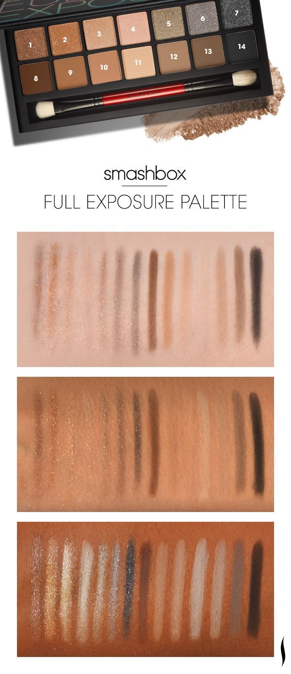 Swatches of the Smashbox Full Exposure palette to see what it looks like on different skin tones. What do you think? I think I want this