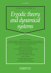Ergodic Theory and Dynamical Systems - http://journals.cambridge.org/ETS