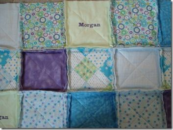 How to Make a Rag Quilt. The directions are very detailed and easy to understand