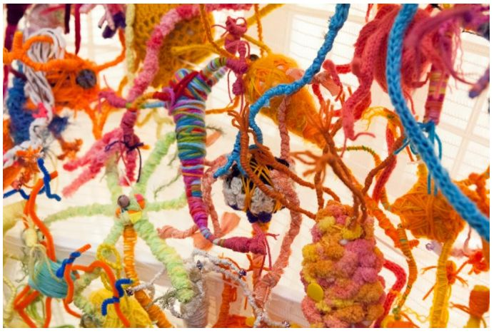Neural Knitworks: knitted and crocheted dendrites, axons and ganglia