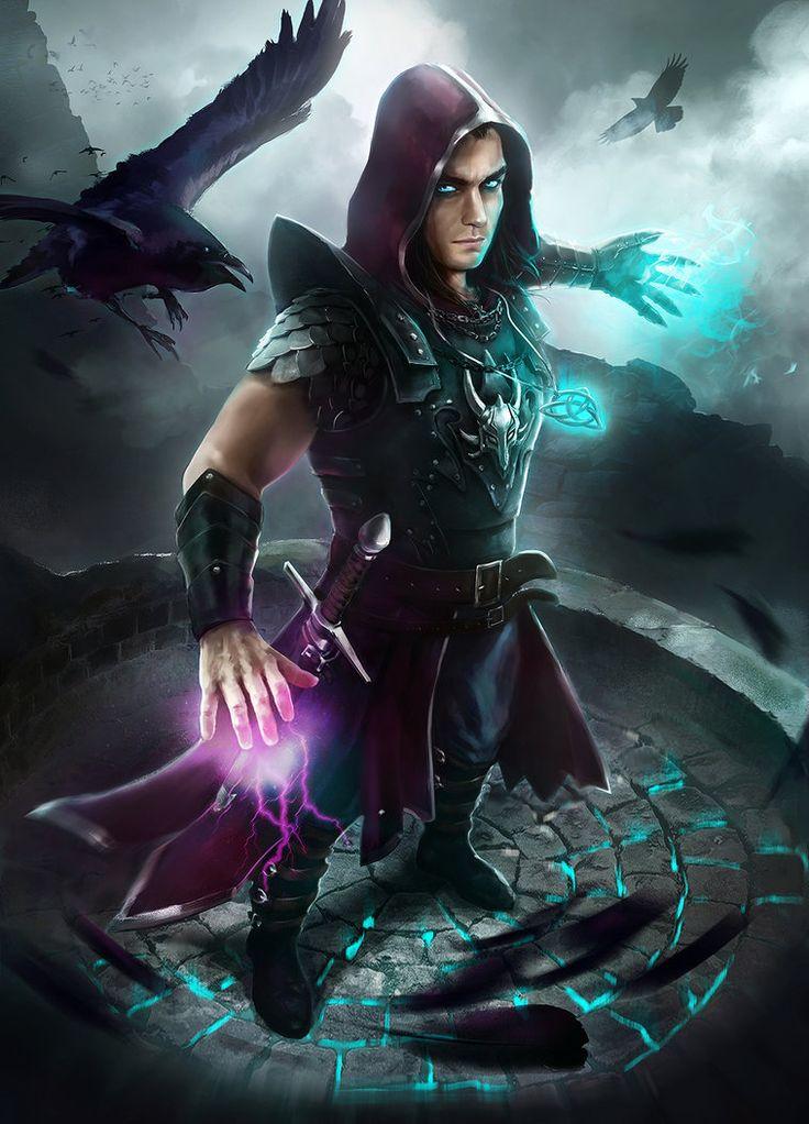 MZLowe verified link on 9/22/2017 Source: Oana-D.deviantART.com Artist: Oana Dascalu Title: Warlock Tags: Fantasy art, male character, warlock, wizard, sorcerer
