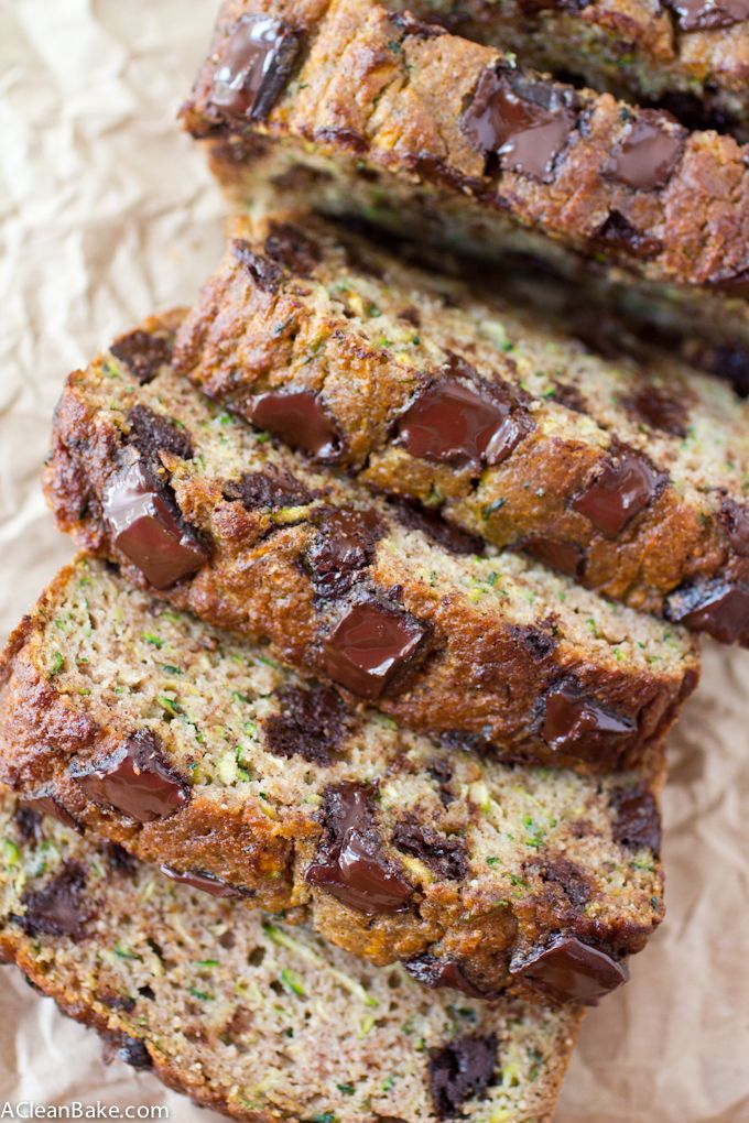 This moist and dense zucchini bread is flecked with bright green to remind you that you're eating your veggies. Go ahead: have another slice!
