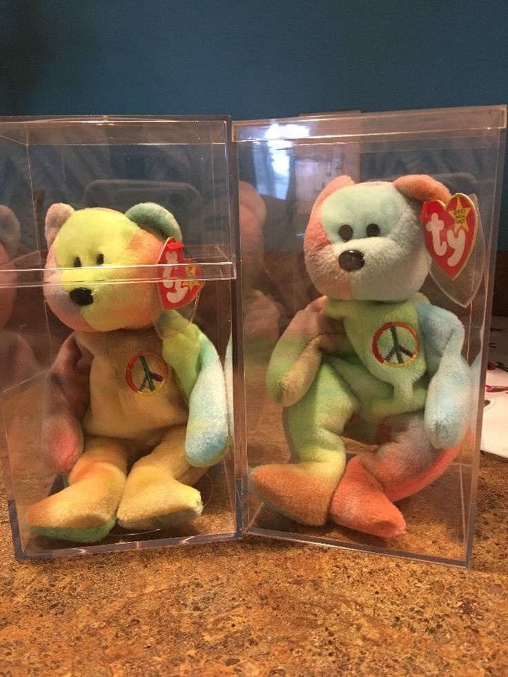Rare Beanie Baby Rare Peace Bears Set Of Two In The Sale  | eBay