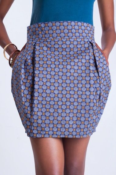 Shweshwe bubble skirt
