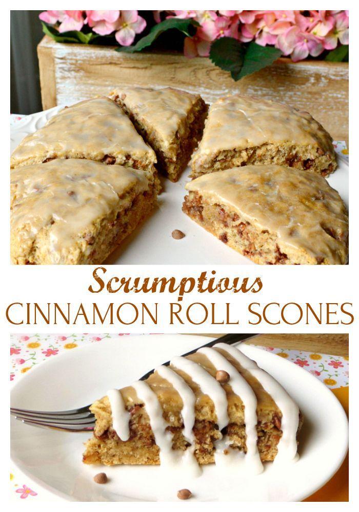 Cinnamon Roll Scones