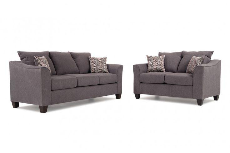 Transitional Sofa & Loveseat