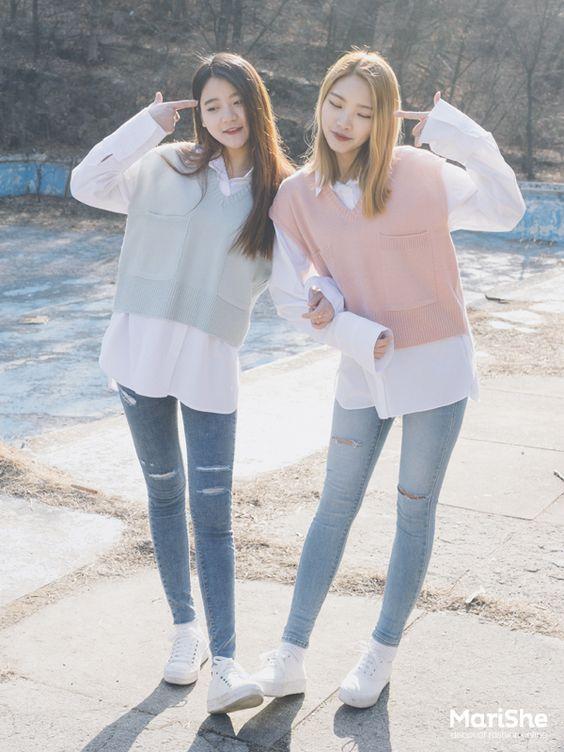 Korean Twin Look Fashion | Official Korean Fashion: