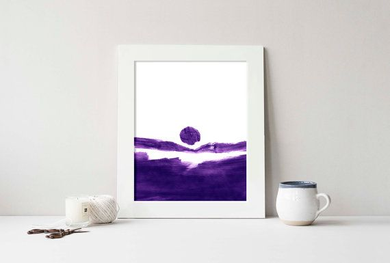 Printable Purple Abstract Brushstrokes Art by PlayfulPixieStudio.  Simple, affordable art, ready to download!  A modern touch for any home decor, available in several sizes up to 16x20 inches to suit any space :) #abstract #homedecor #wallart