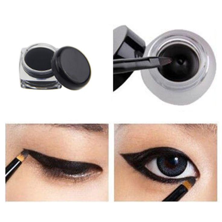 Eye Liner Waterproof Gel Eyeliner Cream Smudge-proof Cosmetics Set Eye Liner Kit in Eye Makeup for Party Swimming Maquiagem