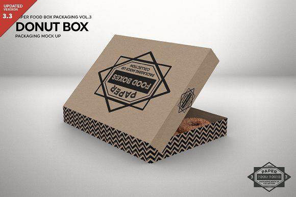 Download Donut Box Packaging Mockup Mockup Free Psd Stationery Mockup Mockup