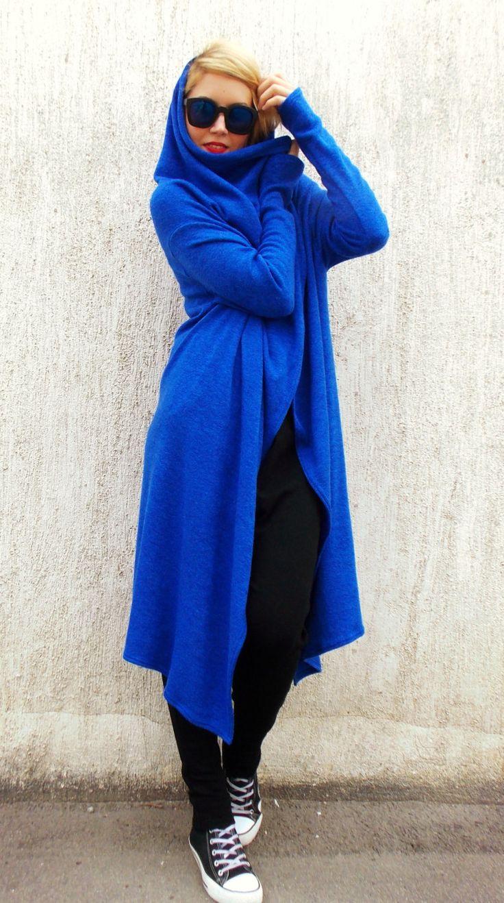 Just launched! Plus Size Wool Blazer / Royal Blue Wool Cardigan / Hooded Blazer / Asymmetrical Blazer TC23 https://www.etsy.com/listing/202259132/plus-size-wool-blazer-royal-blue-wool?utm_campaign=crowdfire&utm_content=crowdfire&utm_medium=social&utm_source=pinterest