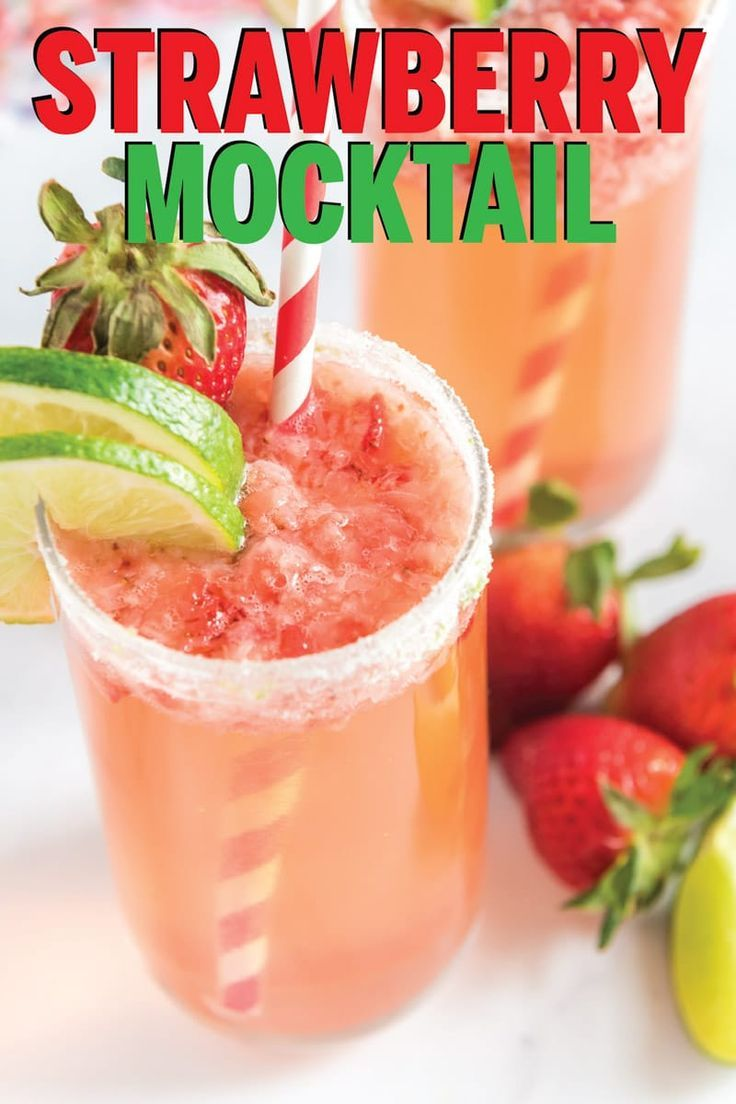 This Strawberry Citrus Mocktail Is One Of The Best Non Alcoholic