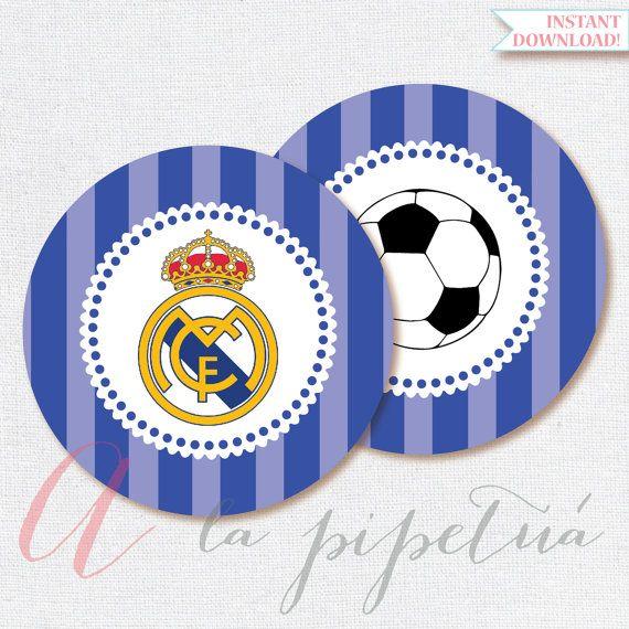 Real Madrid printables. Printable Soccer Centerpiece. Real Madrid decoration. Real Madrid centerpiece. INSTANT DOWNLOAD