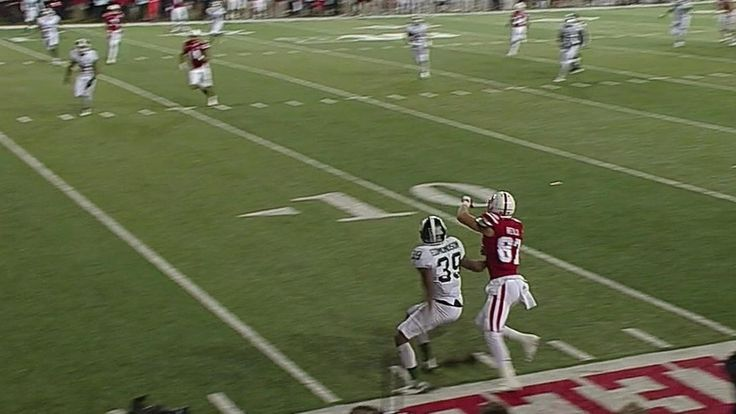 Nebraska upset Michigan State on this maybe legal, maybe illegal game-winning TD  :(