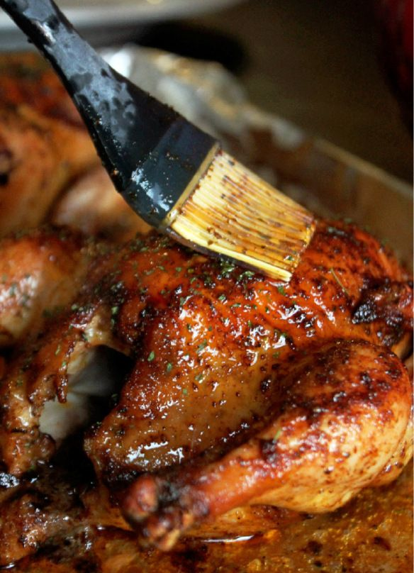 Creole Cornish Hens with Rice Dressing