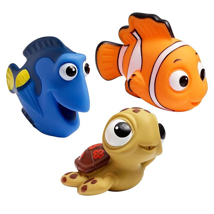 First Years Disney Bath Squirt Toys - Finding Nemo & Little Mermaid