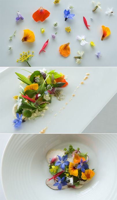 The Royal Mail Hotel » Eat Drink Chic- Edible flower salad