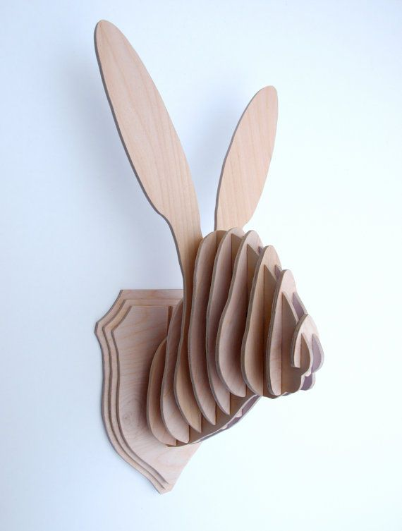 Hare/Rabbit Head Wall Trophy by CliveRoddy on Etsy, $81.00