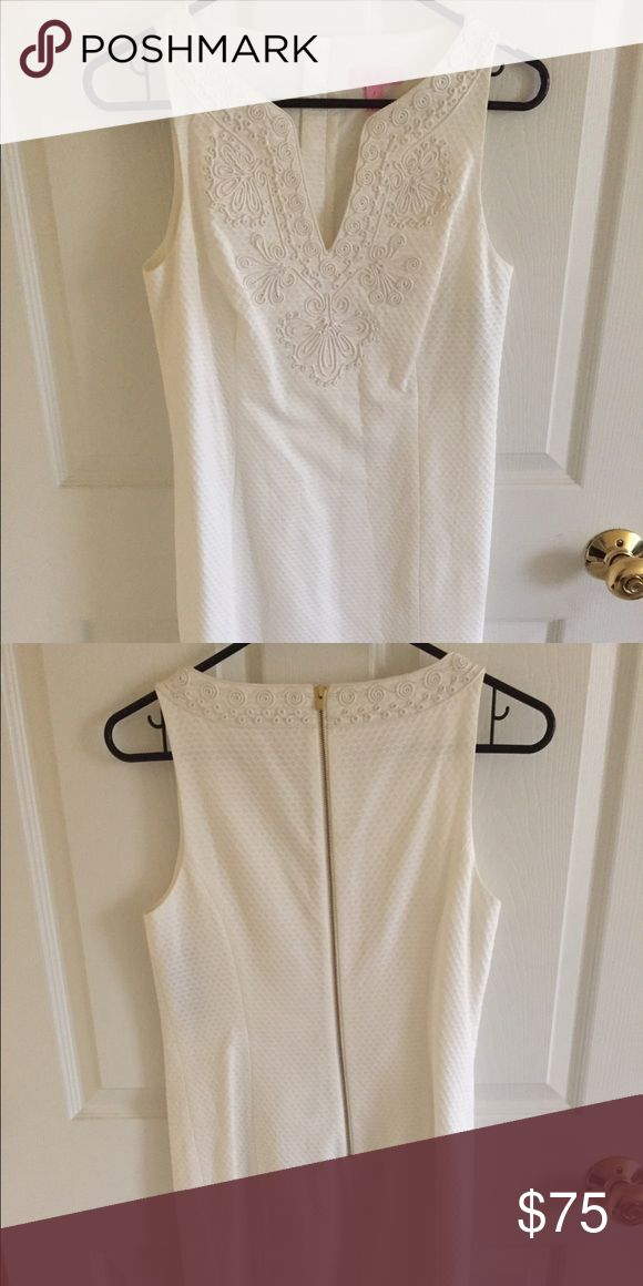 Lilly Pulitzer plain white dress Plain white Lilly Pulitzer dress in perfect condition. Never worn Lilly Pulitzer Dresses