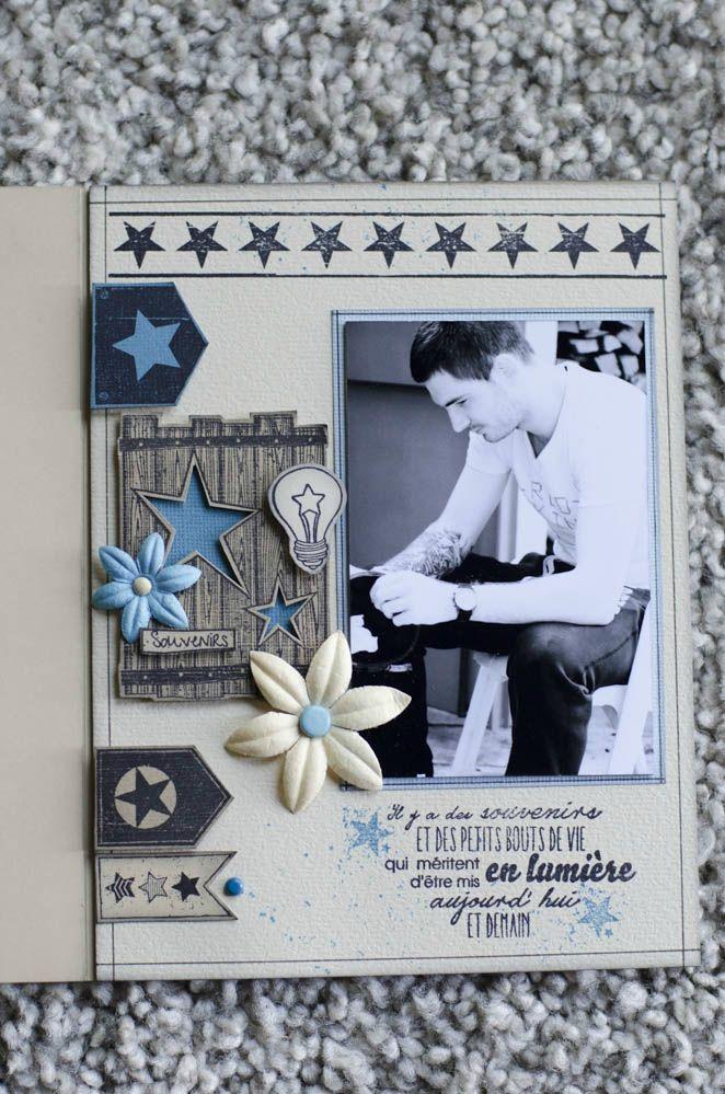 """Mini Album """"Ma star à moi"""" - Le Scrap de Patmiaou. Pas de tuto mais des photos présentant bien le mini. Très joli mini# album# de Scrap#"""