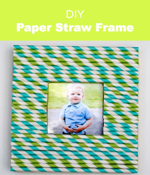 DIY Paper Straw Frame