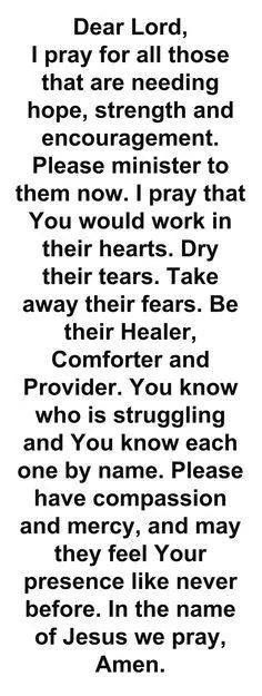 My heart goes out to people who r hurting at this time. And need your love to help them through it.