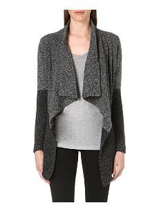 THE KOOPLES SPORT Waterfall-front two-toned cardigan