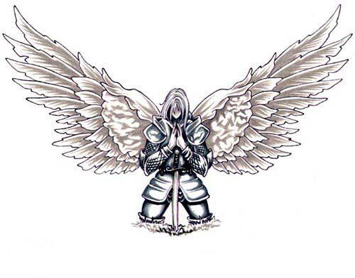 angel warriors of God   deviantART: More Like Angel Tattoo Design by BeniaminoBradi