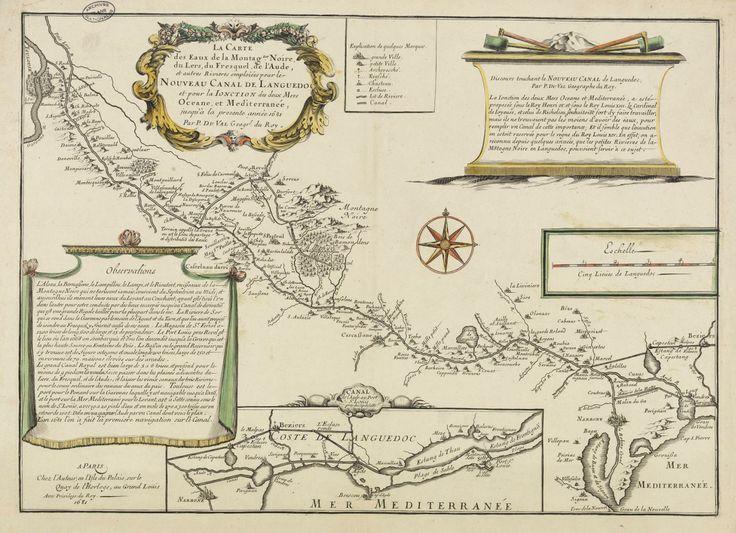 Carte des eaux de la Montagne Noire par andré Ossy et Duval, 1681 Archives nationales, F/14/10100/1-3/1 © Archives Nationales (France) \ Pierre Grand