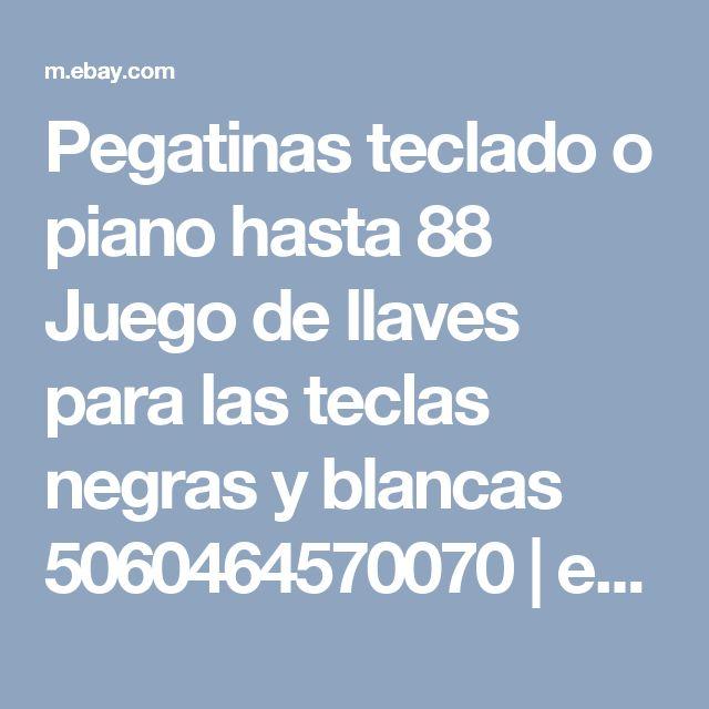 Pegatinas teclado o piano hasta 88 Juego de llaves para las teclas negras y blancas 5060464570070 | eBay