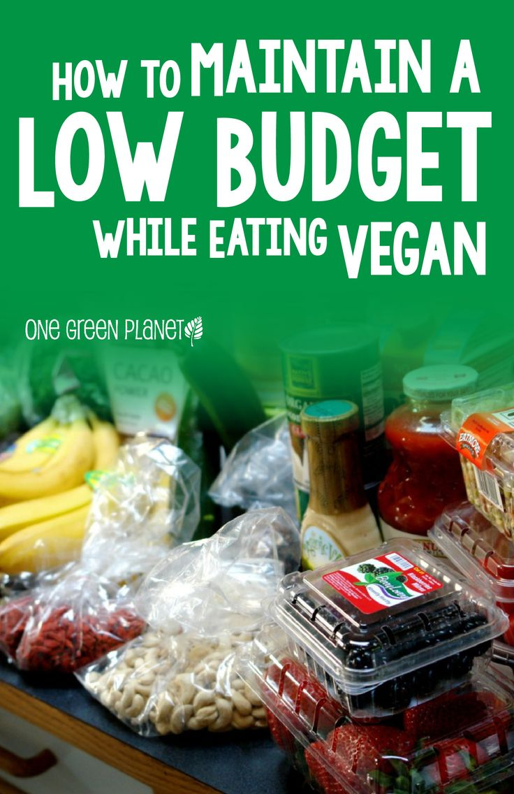 Great tips for saving money while eating vegan. Smart ideas!