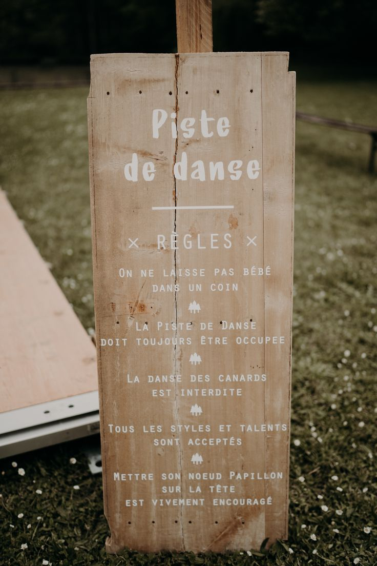 Creation and manufacture of adhesive stickers wedding for home panel or rules of the dance floor. On order at pastillesetpetits ... At ...