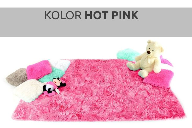 Pluszowy dywan w kolorze różowym